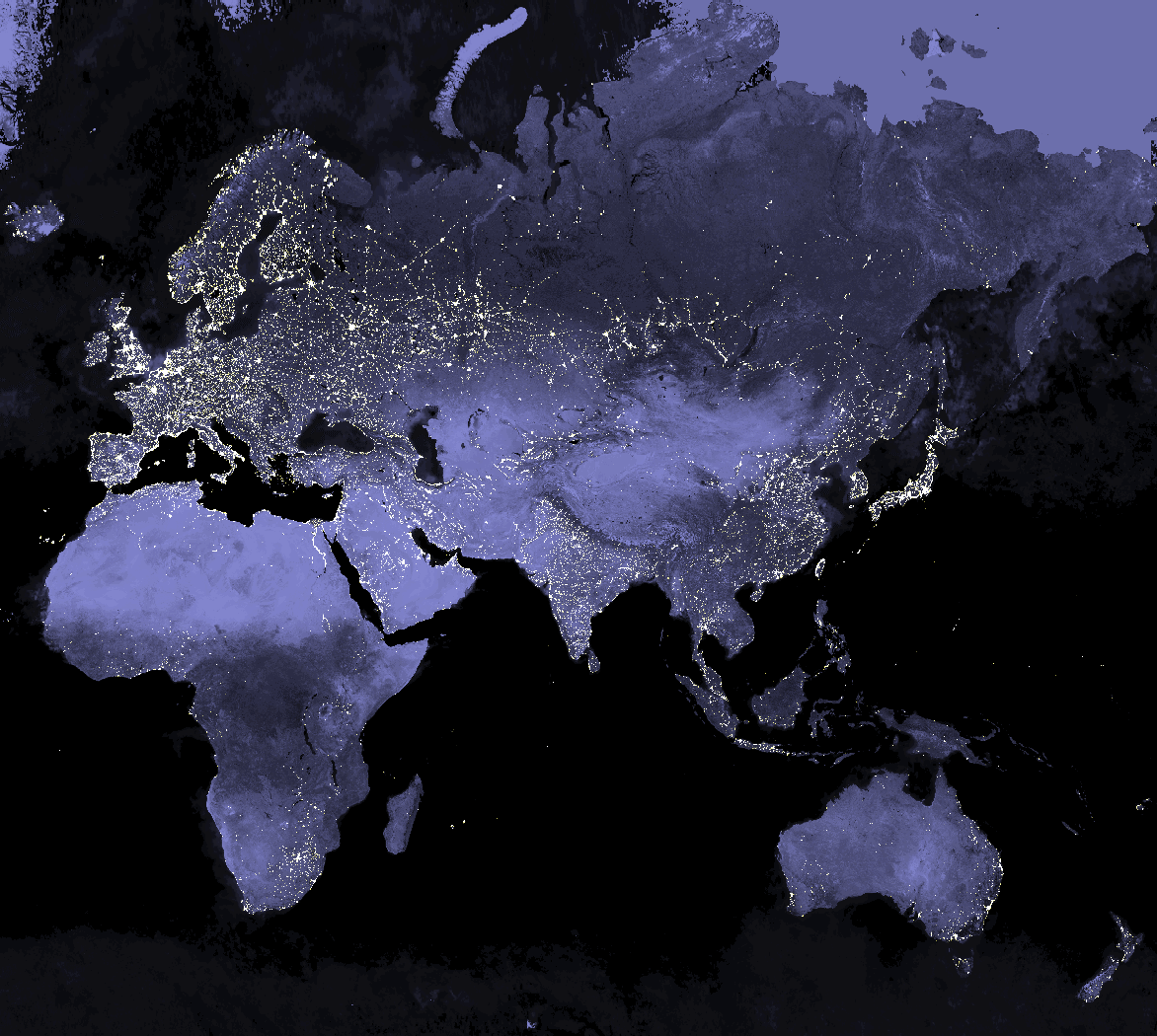 Map of earth at night source esri nasa visible earth out of map of earth at night source esri nasa visible earth gumiabroncs Image collections
