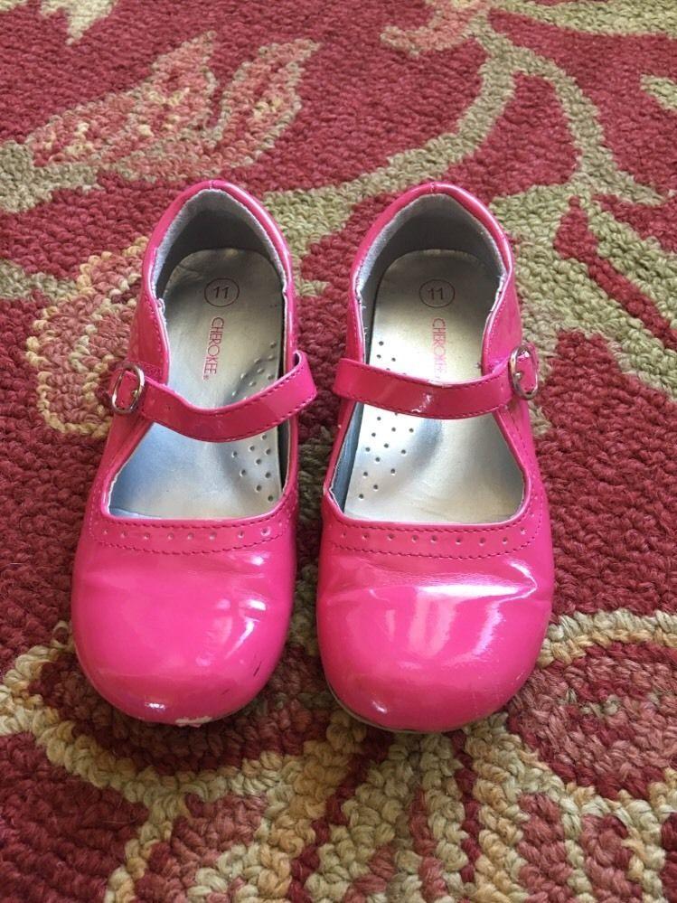 Girls Cherokee Pink Velcro Shoes Size 11 | eBay