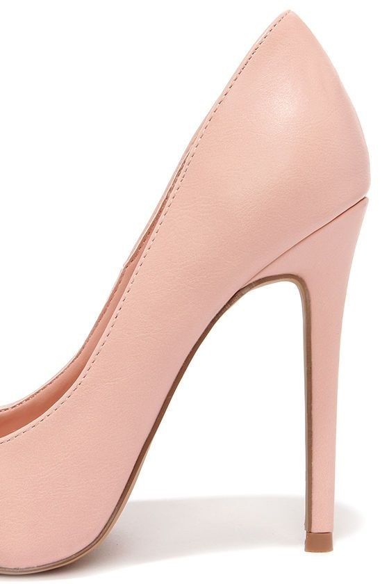 0fb120750e19 Click Your Heels Blush Pink Pointed Pumps