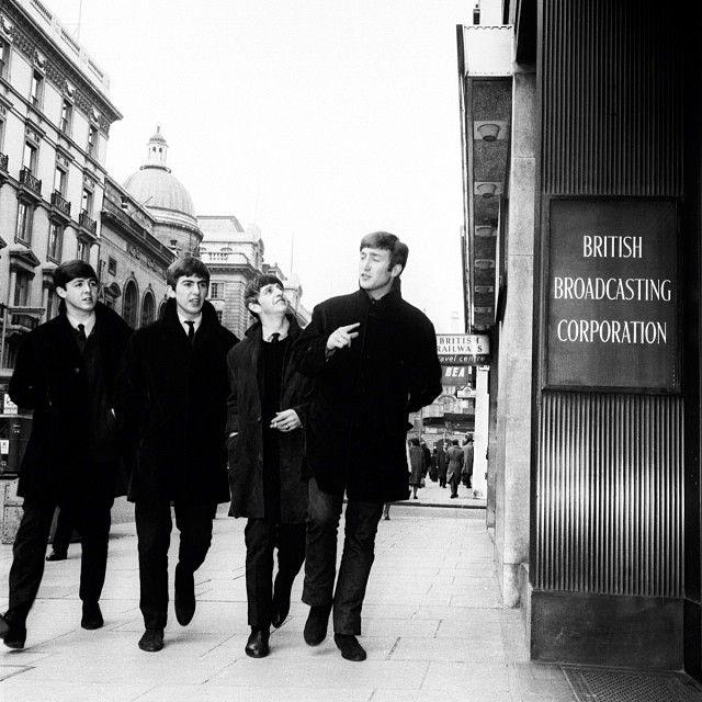 Paul McCartney, George Harrison, Richard Starkey, and John Lennon (The Beatles - BBC)