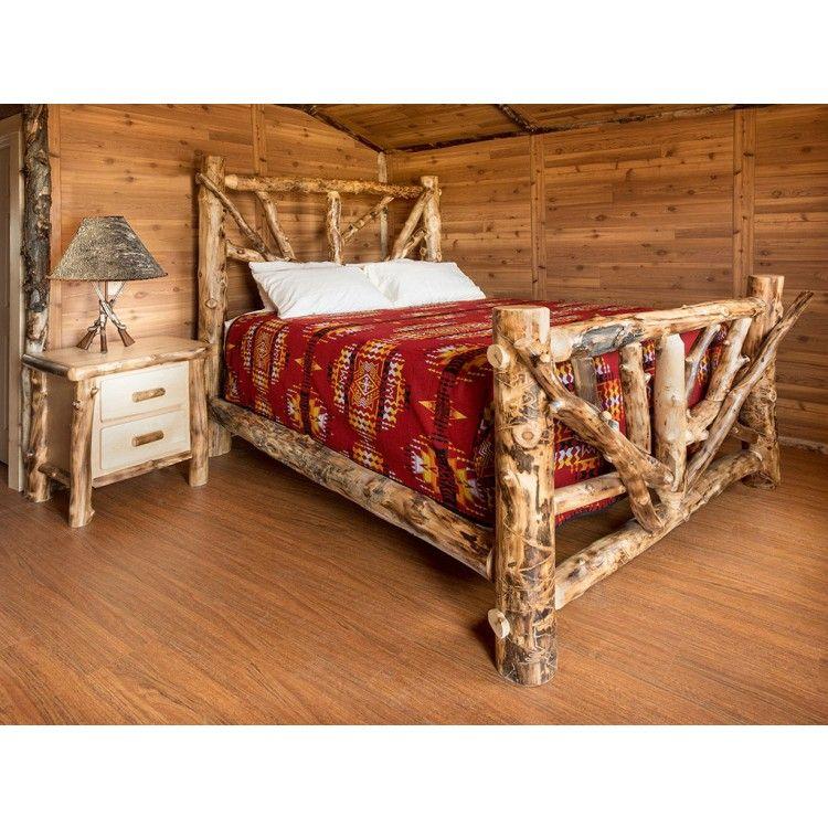 Wild Wood Cabin Log Bed from JHE's Aspen Log Bed Log