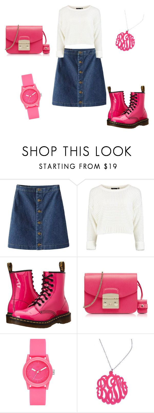 """""""Untitled #43"""" by ellen7ellen ❤ liked on Polyvore featuring Dr. Martens, Furla, Skechers and Initial Reaction"""
