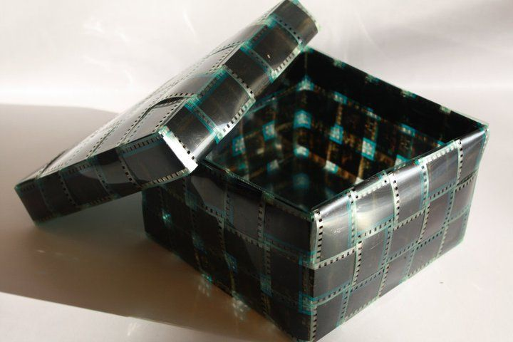 A Box Made Out Of Recycled Film: (photo Strip, Photography