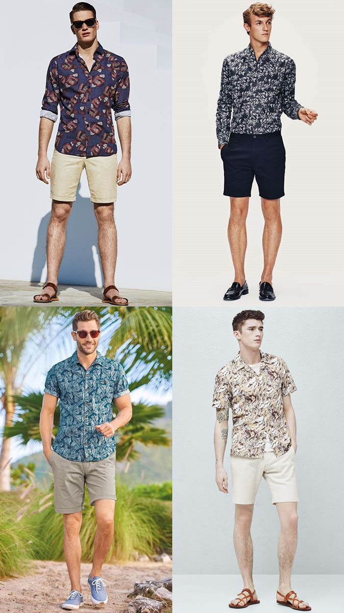 80a73d900f Men s Floral Shirts with Chino Shorts - Summer Fashion Style Outfit  Inspiration Lookbook