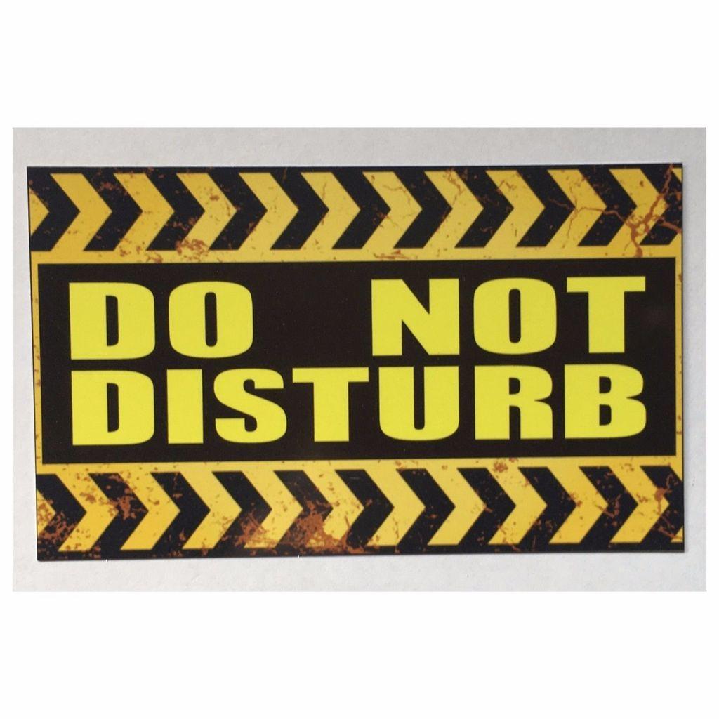 Do Not Disturb Room Wall Sign Tin/Plastic Rustic Wall Plaque Hang ...