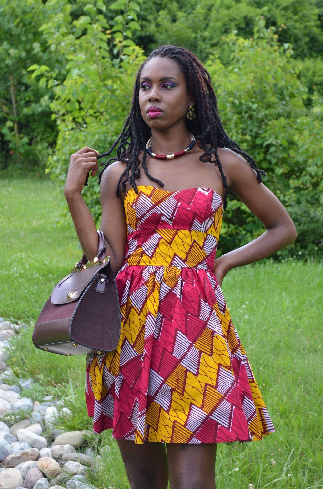 Blue Amina Dress African fashion, Ankara, kitenge