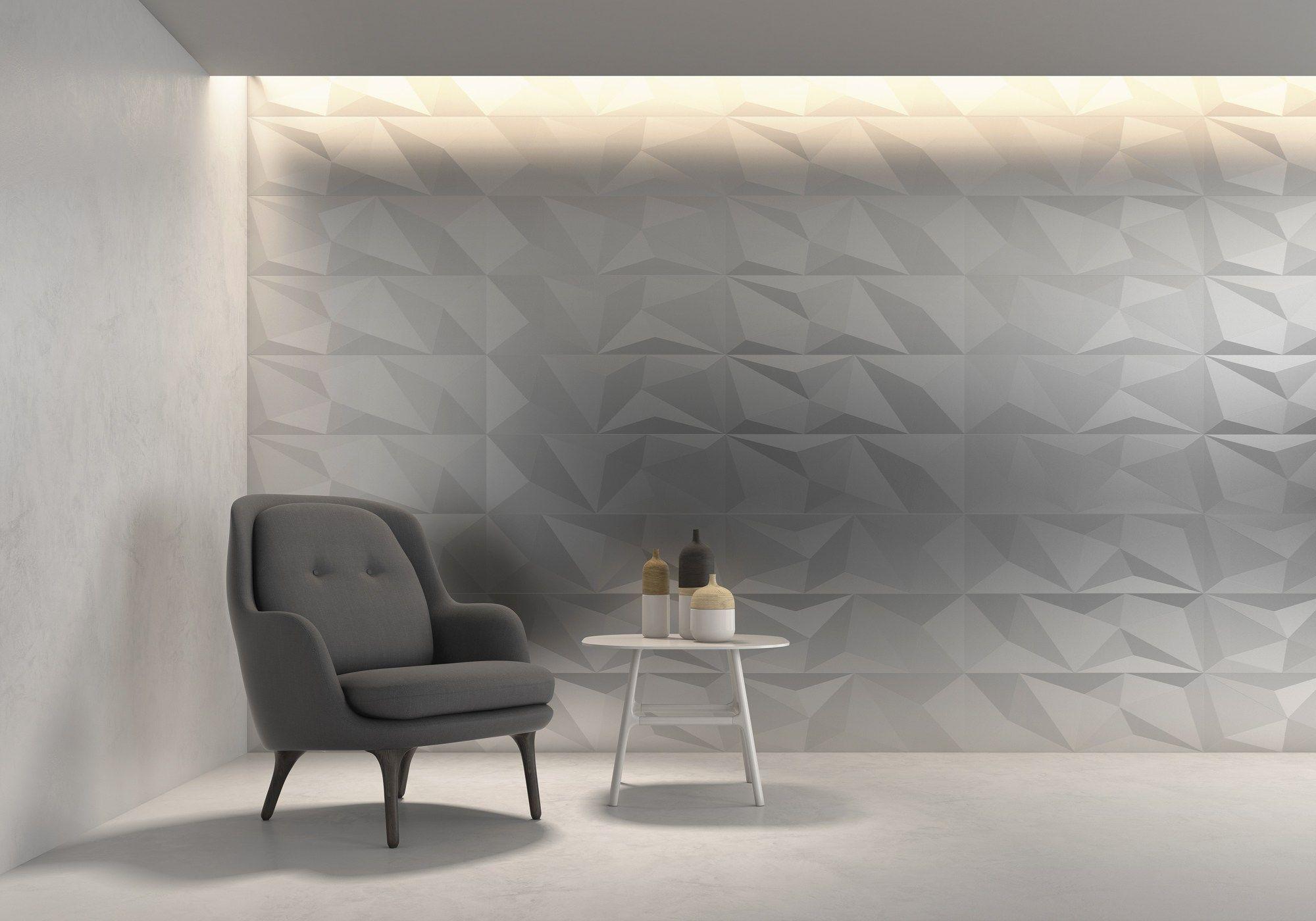 FACETADO WHITE Revestimiento de pared 3D para interiores by ALEA ...