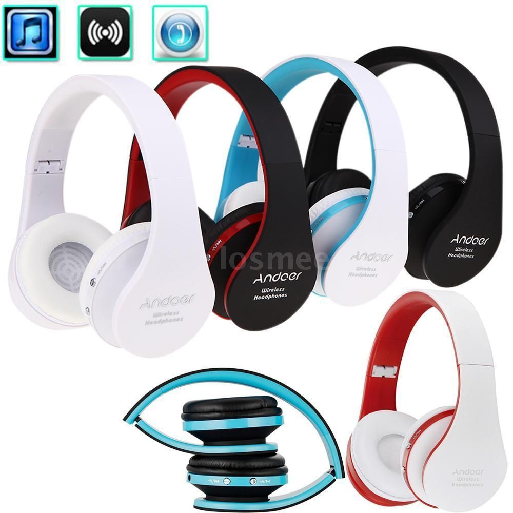 Details About Foldable Wireless Stereo Bluetooth Headphone Earphone Headset For Iphone Samsung Bluetooth Headphones Headphones Headset