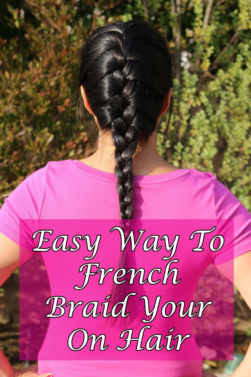 How to french braid your own hair tutorial other french and how to french braid your own hair tutorial ccuart Choice Image