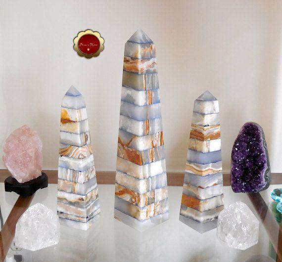 Blue Onyx Obelisk    OBL-0186