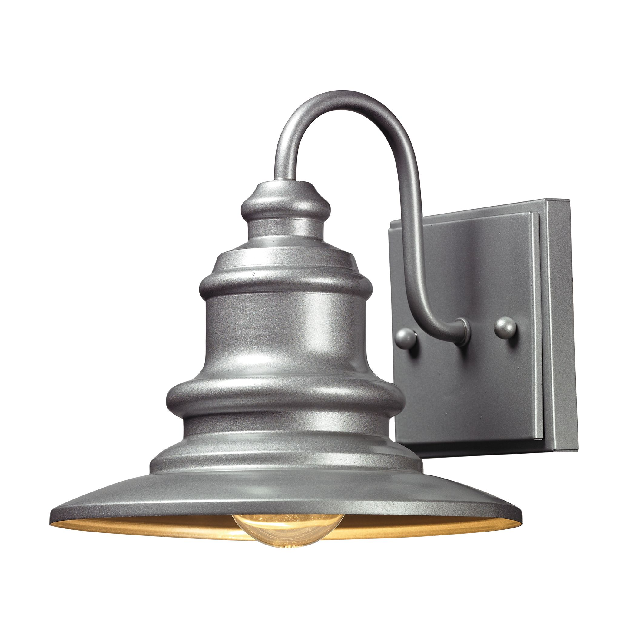 Outdoor Sconce In Matte Silver