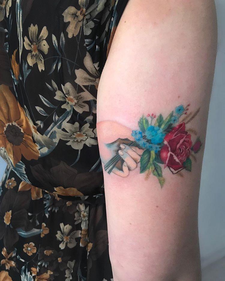 A victorian bouquet for cool cat @keikolynn   Floral ...  Victorian Flower Tattoo