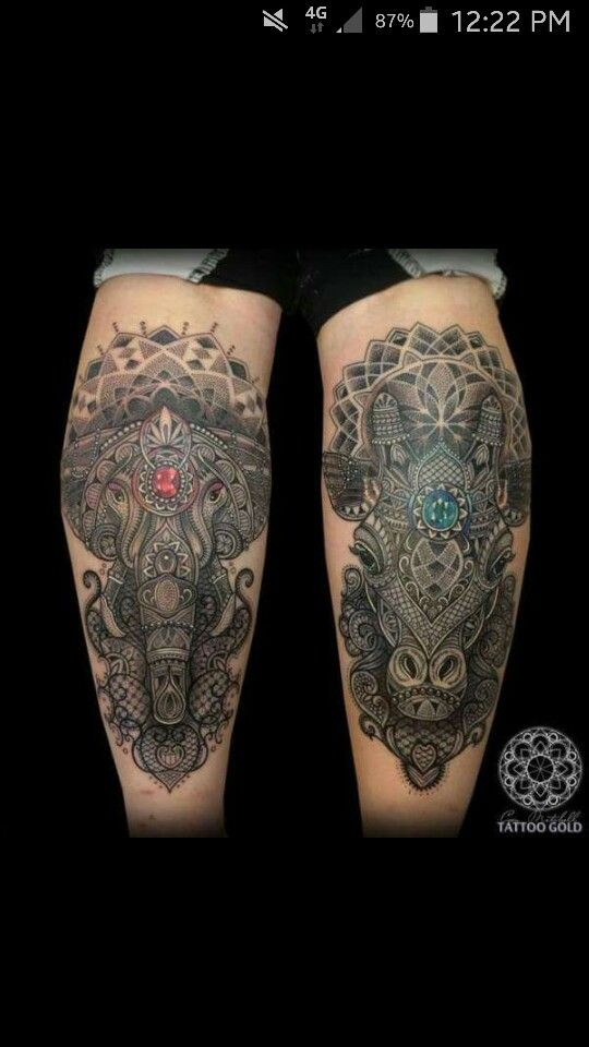 Would tattoos like this on my calves.