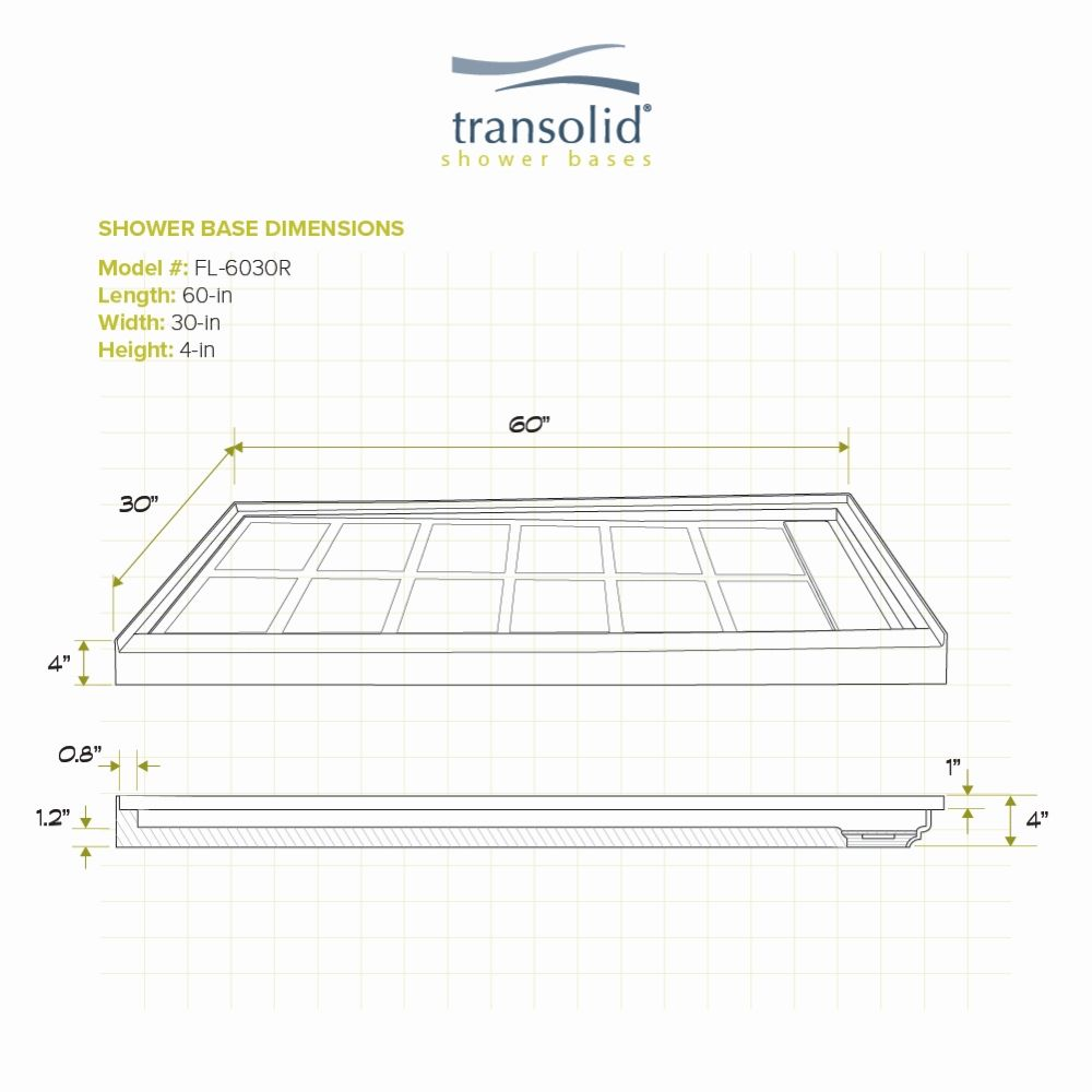 Transolid Fl6030r 38 Linear 60 In X 30 In Rectangular Alcove