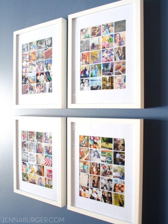 30 fotownde und fotocollagen ideen fotowand dekoideen - Fantastisch Fotowand Gestalten