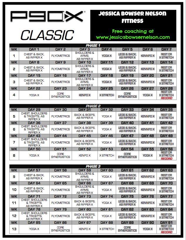 p90x lean workout schedule calendar p90x schedule motivation rh pinterest com p90x workout booklet pdf P90X Chest and Back