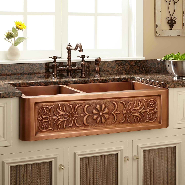 Kitchen Sinks Signature Hardware Copper farmhouse