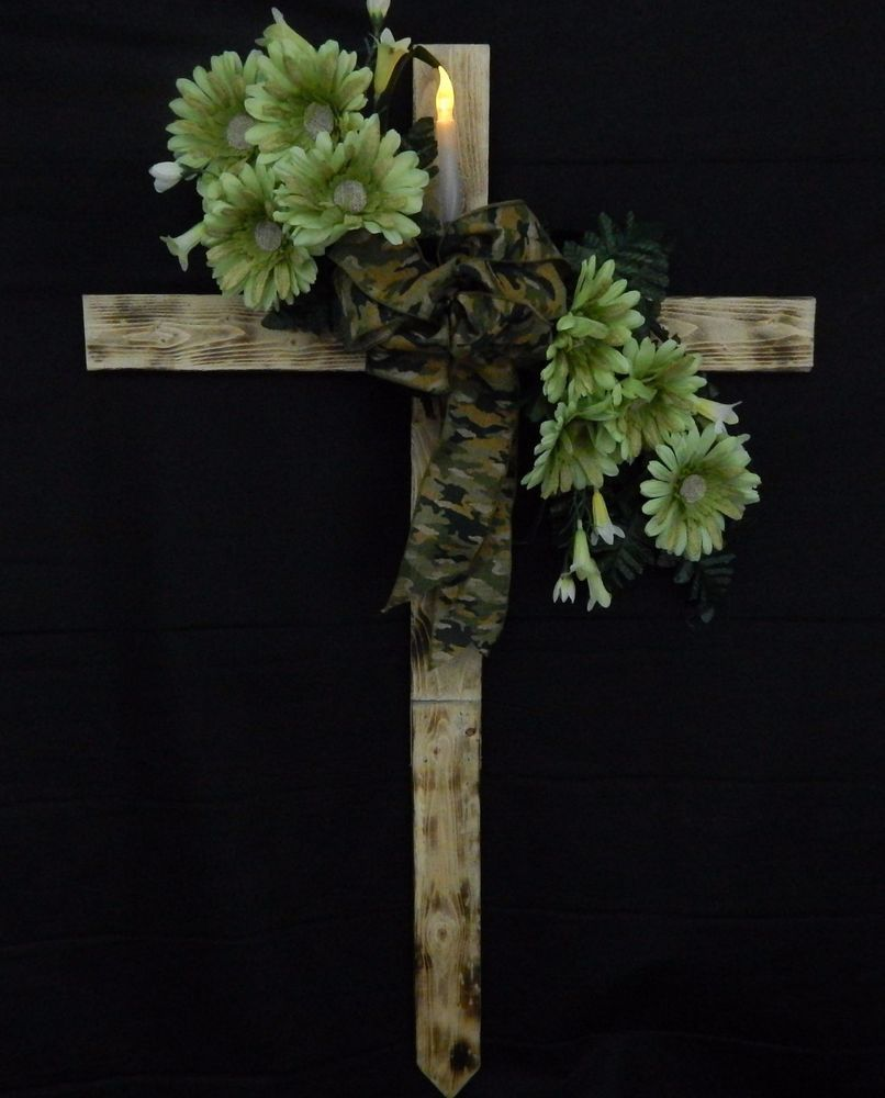 Cemetery flower roadside memorial cross with solar light flickering cemetery flower roadside memorial cross with solar light flickering candle izmirmasajfo
