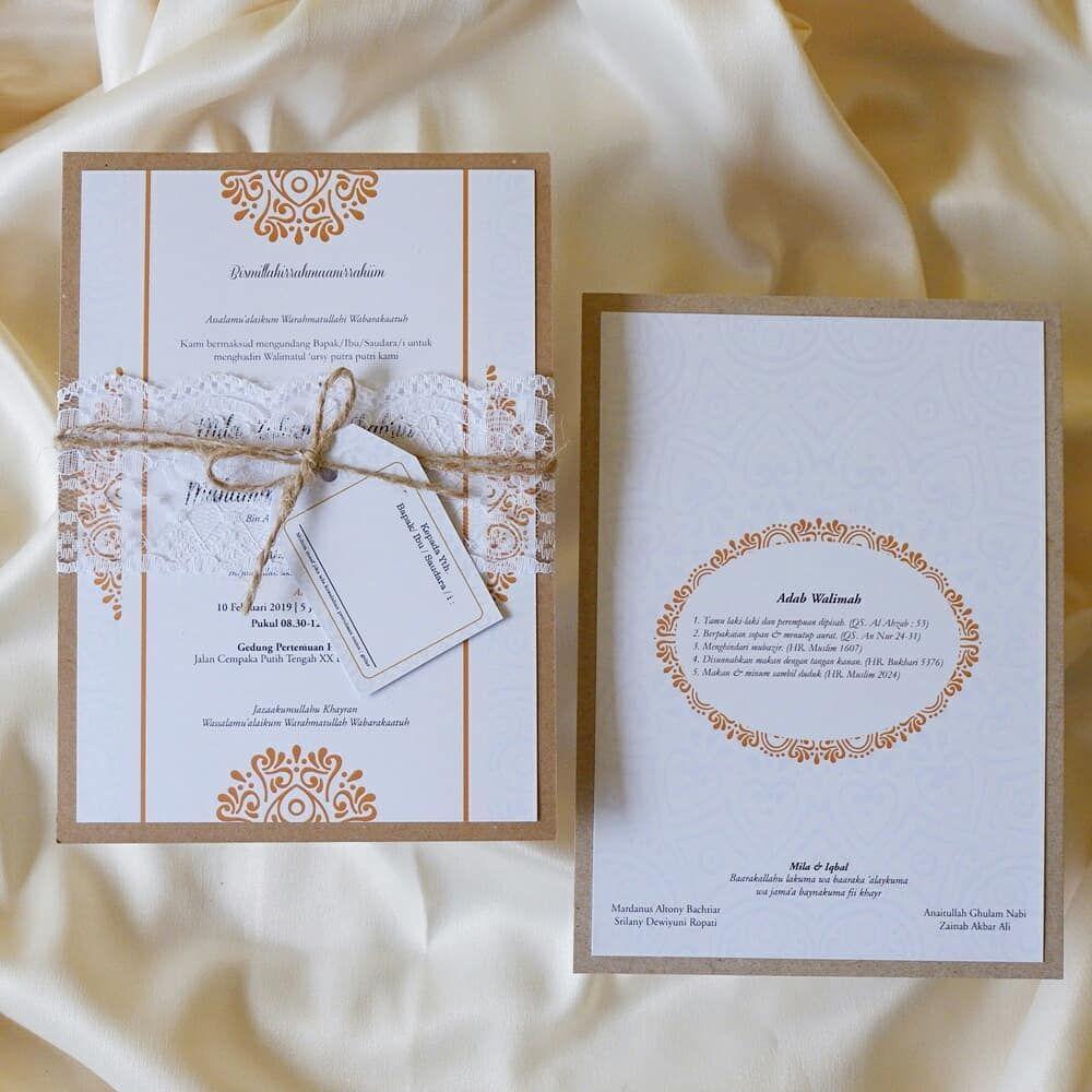 Rustic Invitation For Mila Iqbal By Gravist Souvenir Malang