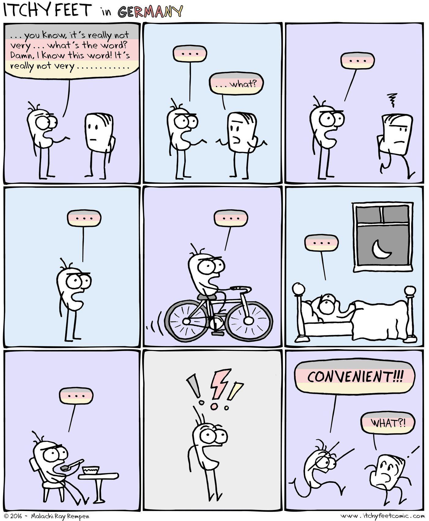 When You Can T Think Of The Word Pronuncian American English Pronunciation Language Jokes Fun Comics German Humor