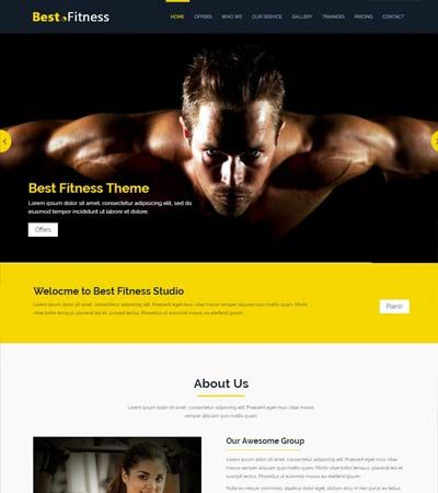 Fitness-Bootstrap-Website-Template Fitness website templates