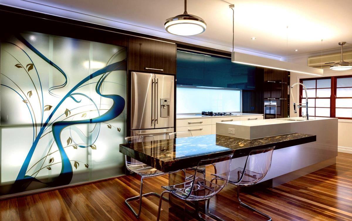 Kitchenmodern kitchen design with wall murals also white kitchen
