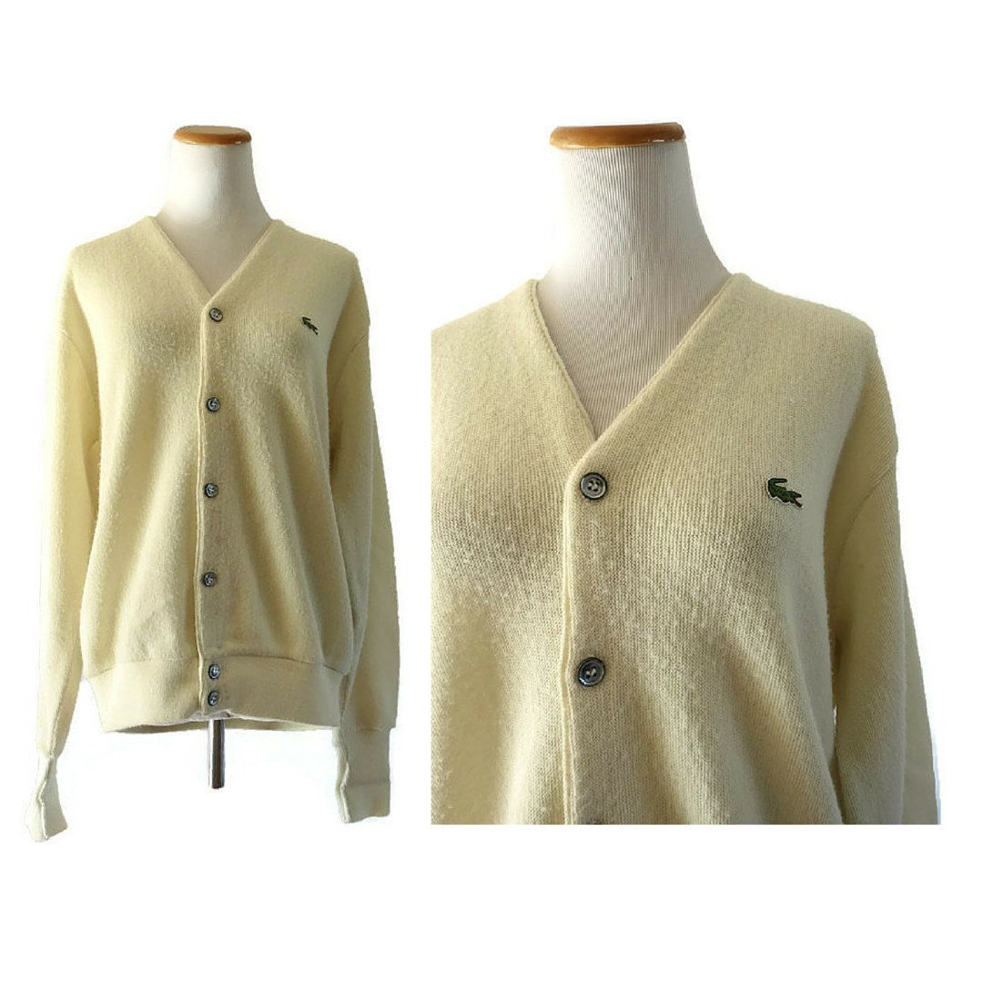 Lacoste Cardigan Sweater Vintage Izod Lacoste Men's Cardigan V ...
