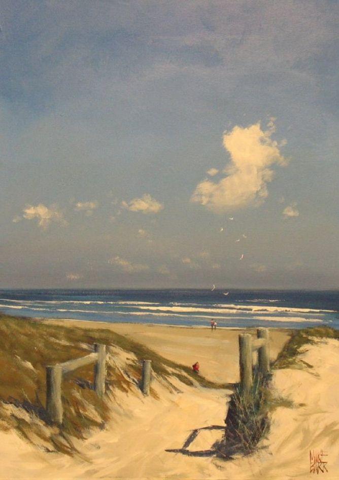 """""""Beachpath - Goolwa Beach"""" acrylic by Mike Barr"""