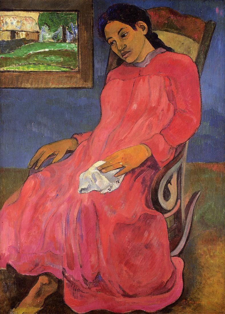 Paul Gauguin - Melancholic, 1891, oil on canvas