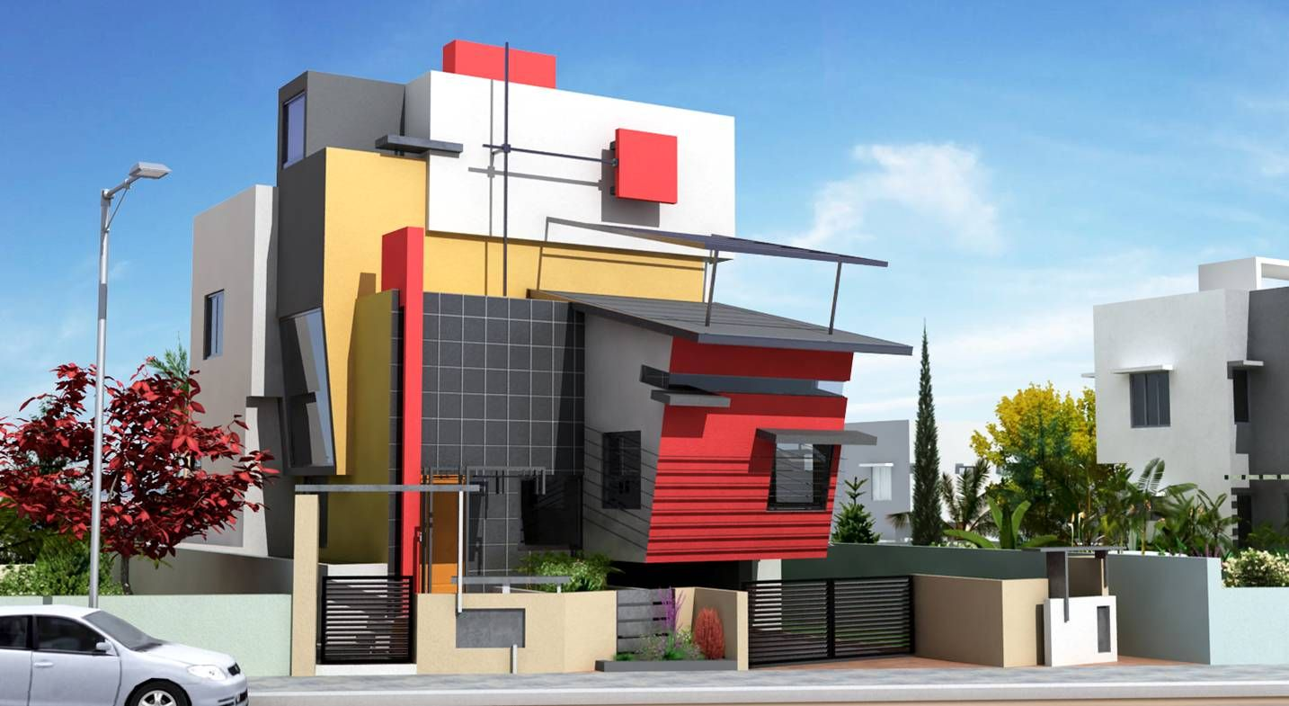 Front Design Of House In Bangalore Part - 17: House · Modern Front House Elevation Designs ...