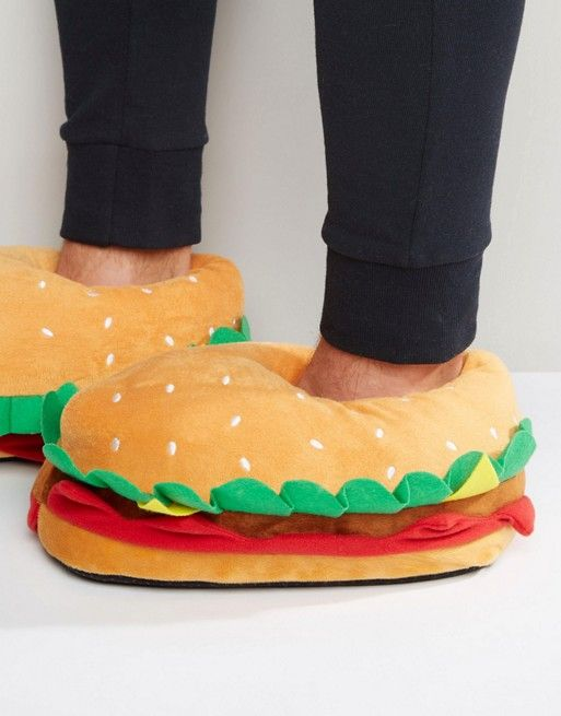 5d4adc78d721a7 ASOS Burger Novelty Slippers