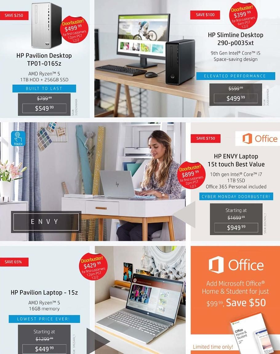 Hp Home Home Office Cyber Monday Ad Scan Deals And Sales 2019