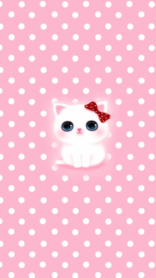 Anime Kitten Pink Wallpaper Anime Kitten Pink Wallpaper Iphone Kawaii Wallpaper