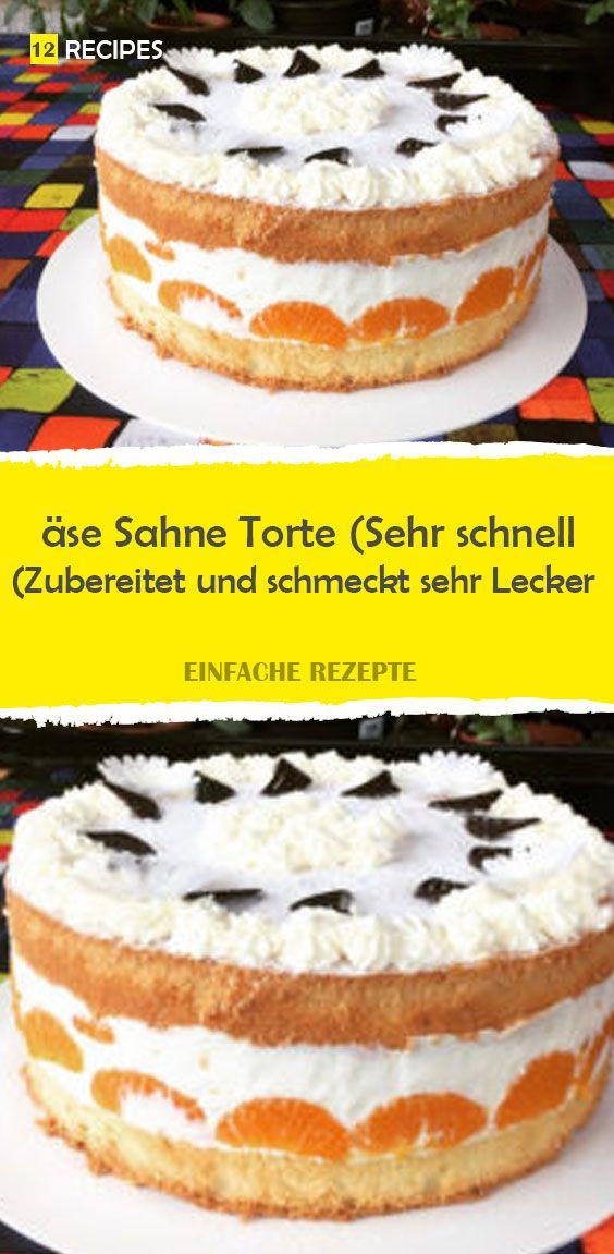 äse Sahne Torte (Sehr schnell Zubereitet und schmeckt sehr Lecker) – 12Recipes #tortenrezepte