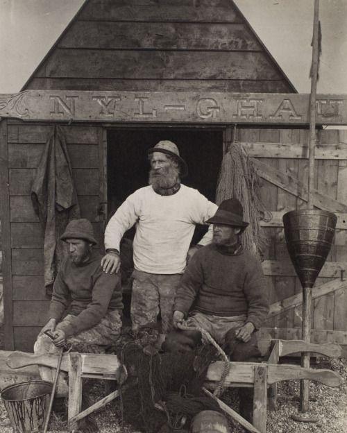 Peter Henry Emerson (English, 1856-1936) East Coast Fishermen, ca. 1886, Platinum print, Museum collection