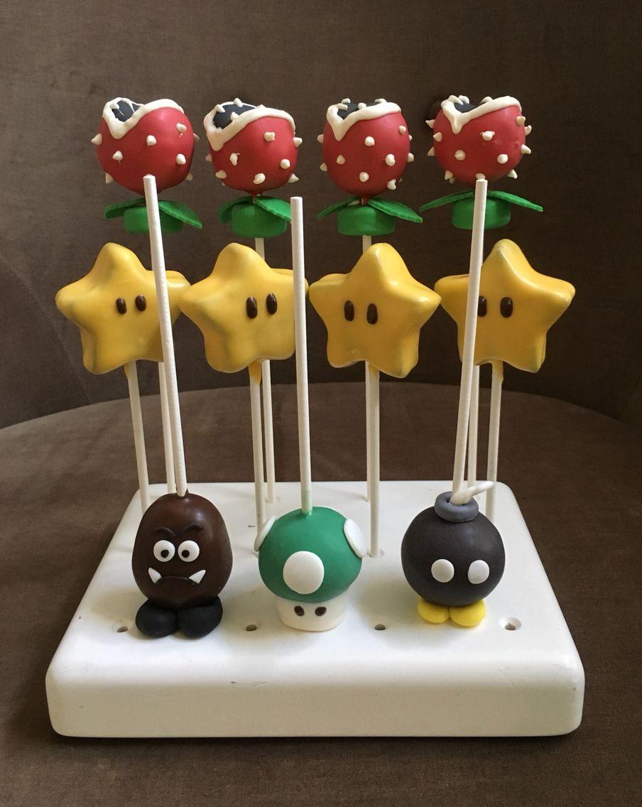 Super Mario Bros Cake Pops Super Mario Bros Birthday Party