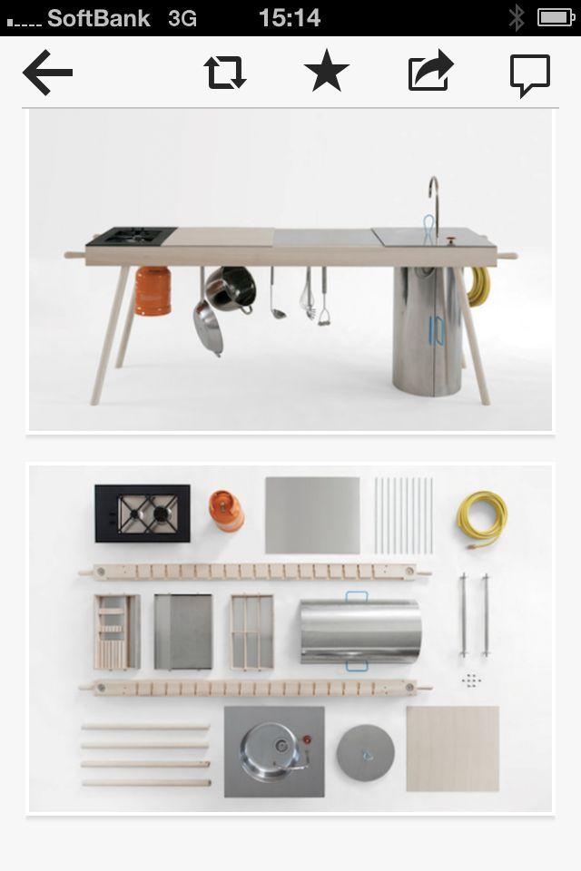 Mobile kitchen. Cool idea !   09 #Camping #Camper #RV   Pinterest ...