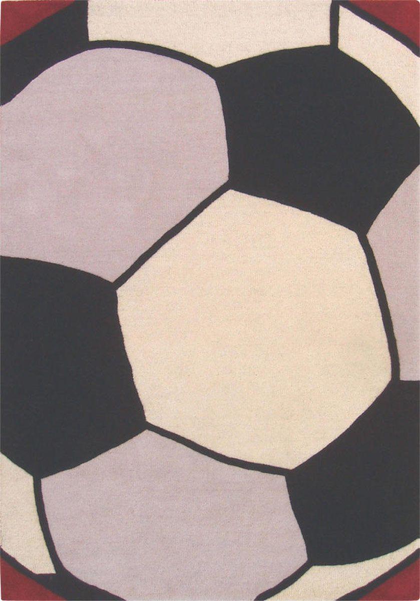 Soccer Ball Modern Kids Rug Rugs