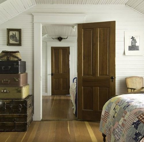 Downstairs Wood Doors White Walls Ceilings Farmhouse Interior Doors Doors Interior Interior Doors Stained