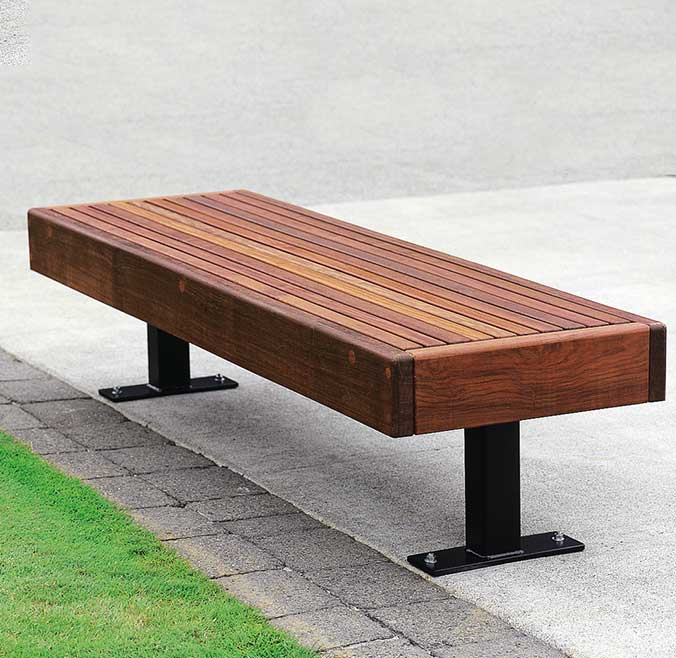 Modern Street Furniture Commercial Steel Bench Tournesol Siteworks Llc Wood Bench Outdoor Steel Bench Build Outdoor Bench
