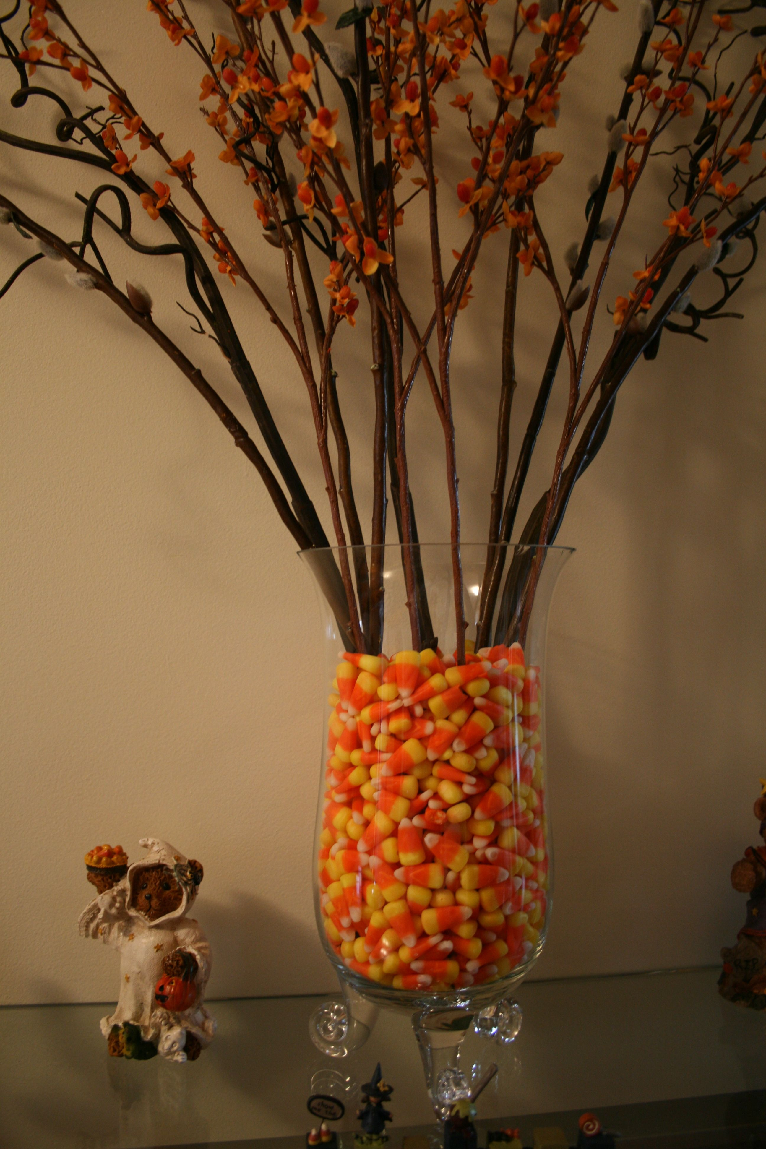 Candy corn as a vase filler fall is my favorite pinterest candy corn as a vase filler floridaeventfo Images