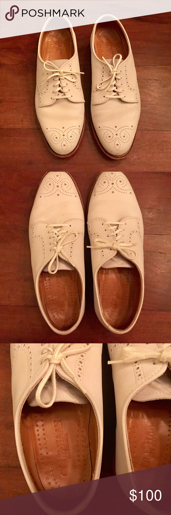 Cole Haan Wing Tip White Bucks | Cole