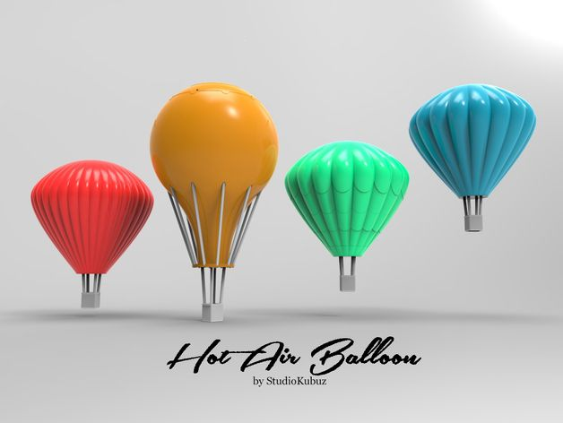 Printable Hot Air Balloons by Studiokubuz - Thingiverse