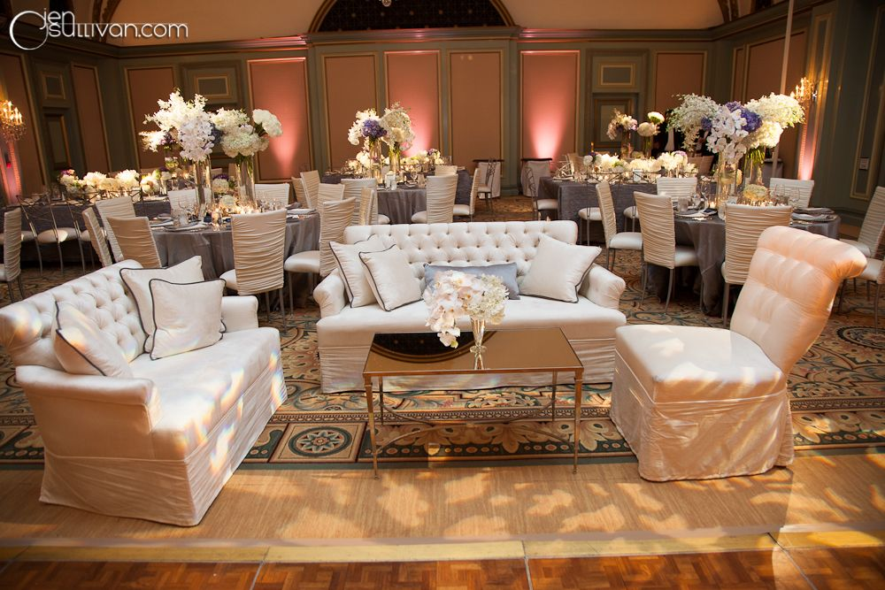 seating areas around the dance floor for people to take a chic and glam break