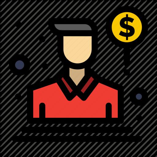 Agent Person Sales Salesman Icon Download On Iconfinder Icon Person Icon Vector Icon Design
