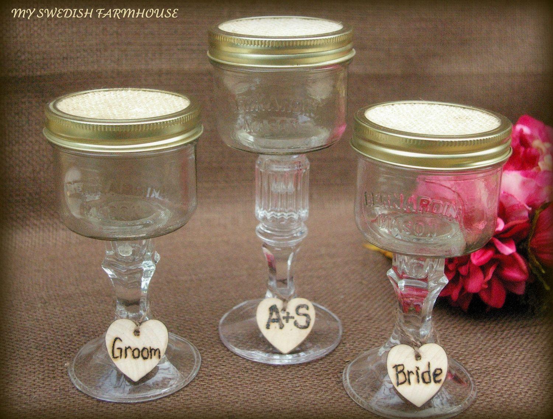 Beach wedding sand ceremony sets  Sand Ceremony Wine Ceremony Mason Jar Glass Set with personalized