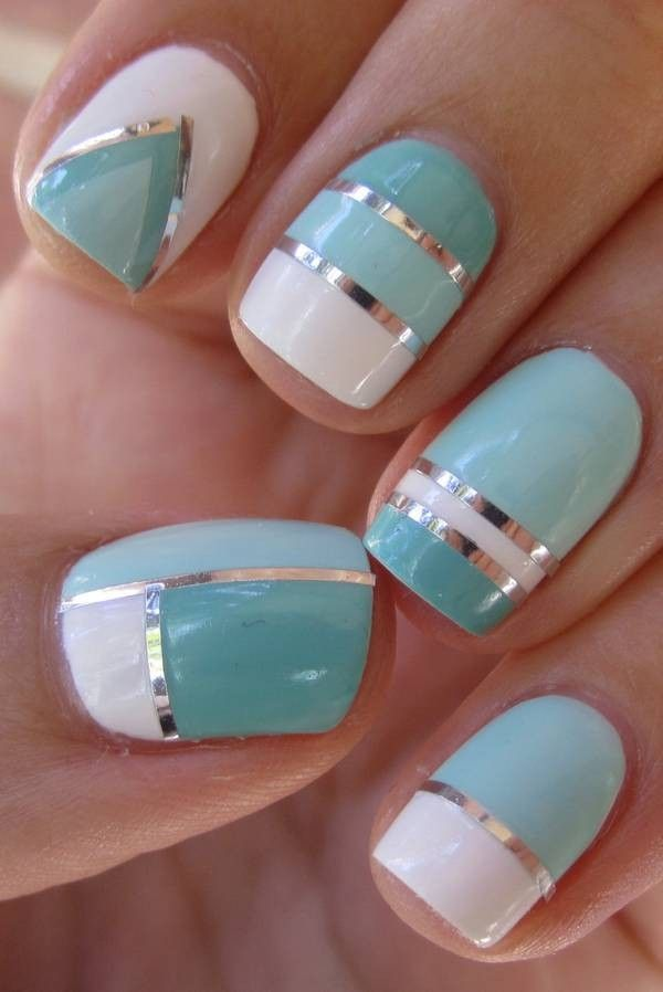 Tape mani | Nail art | Pinterest | Hair and beauty, Salons and Manicure