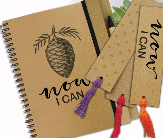 NOW I CAN Inspiration Notebook With Bookmark by LooveMyArt on Etsy