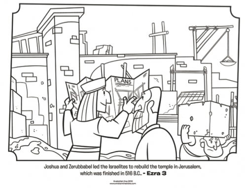 Kids coloring page from Whats in the Bible featuring Jeshua and