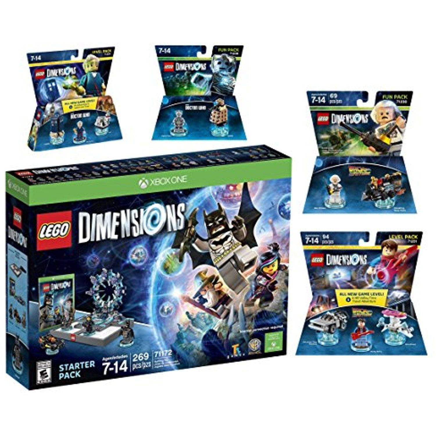 Lego Dimensions Time Traveler Starter Pack Doctor Who Level Pack Cyberman Fun Pack Back To The Future Marty Mcfly Lev Lego Dimensions Xbox One S Xbox One